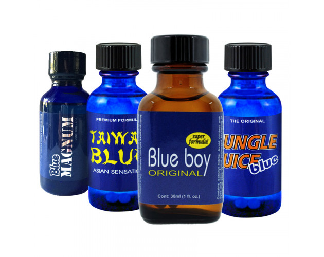 4-PACK 30ml Of: Blue Boy, Jungle Juice Blue, Taiwan Blue, Blue Magnum