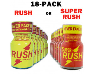 18-Pack of PWD Rush or Super Rush 10ml